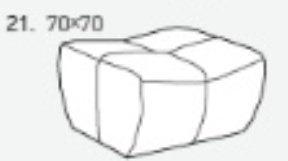 Модуль 21 к кожаному диван у Бостон