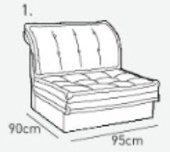 Одинарная часть к кожаному модульному диван у Китч