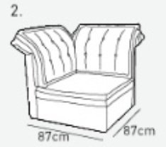 Угловая часть к кожаному модульному диван у Китч