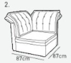 Пуф к модульному диван у Китч