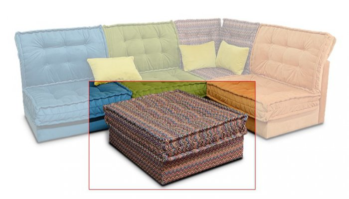 Пуф к модульному дивану Китч