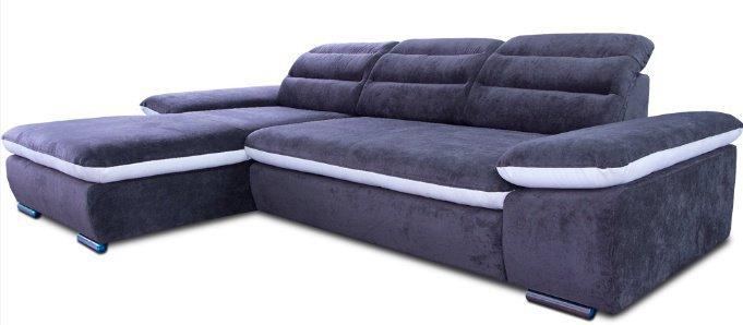 Кожаный модульный диван Оливер