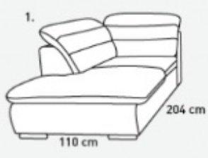 Модуль 1,2 к кожаному модульному диван у Оливер