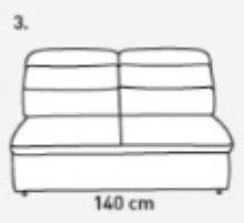 Модуль 3 к кожаному модульному диван у Оливер