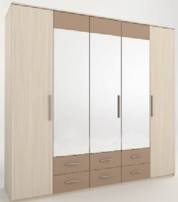 Шкаф 5 дверей Сандра