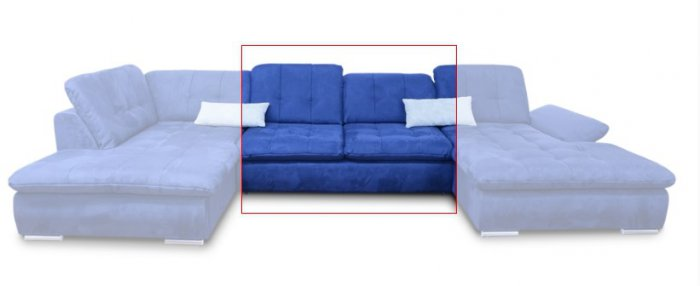 Модуль №3 к кожаному модульному дивану Мегапол