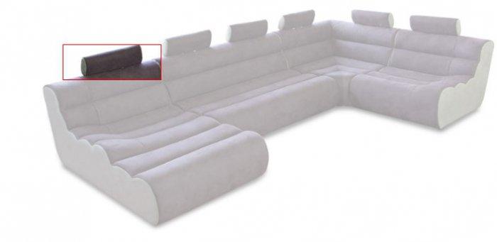 Модуль 13 (подголовник) к кожаному дивану Мегалайф