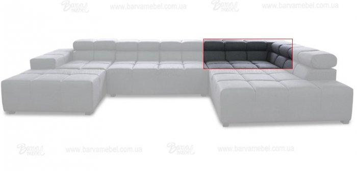 Модуль 1,2 к кожаному дивану Мегамакс