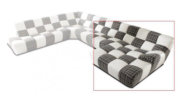 Модуль 1,2 к кожаному дивану Бостон