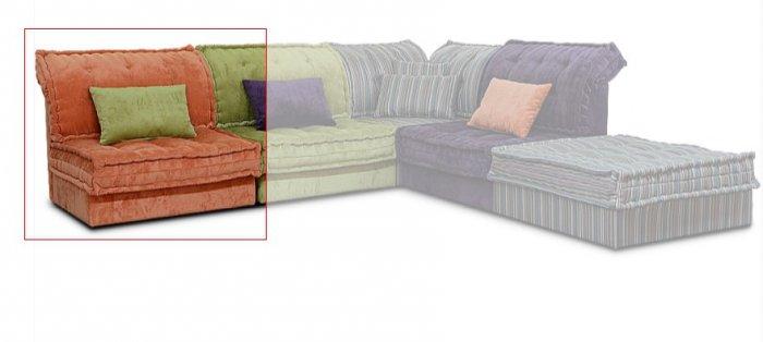 Одинарная часть к кожаному модульному дивану Китч