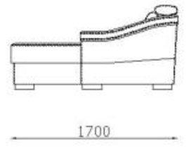 Модуль оттоманка Отт70б/я к диван у Беллуно