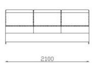 Модуль двойной 2Р140дл к диван у Беллуно