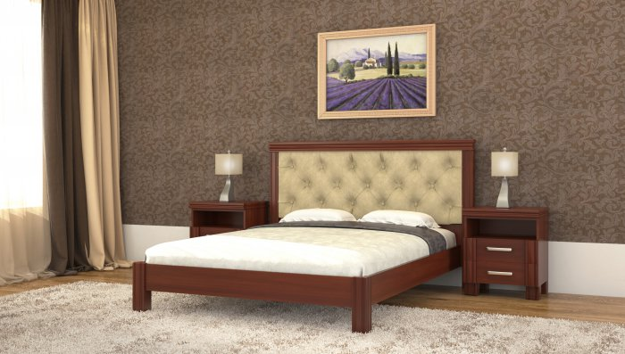Полуторная кровать Маргарита дерево c механизмом - 140x190-200см