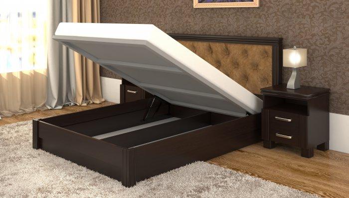 Двуспальная кровать Маргарита дерево c механизмом - 160x200см