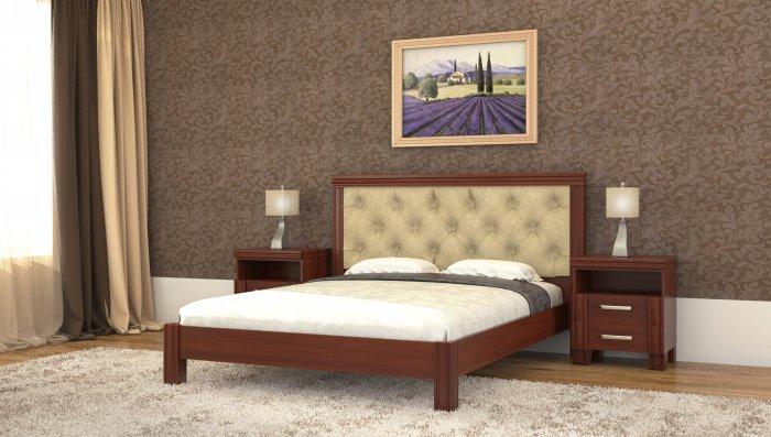 Двуспальная кровать Маргарита дерево c механизмом - 180x190-200см