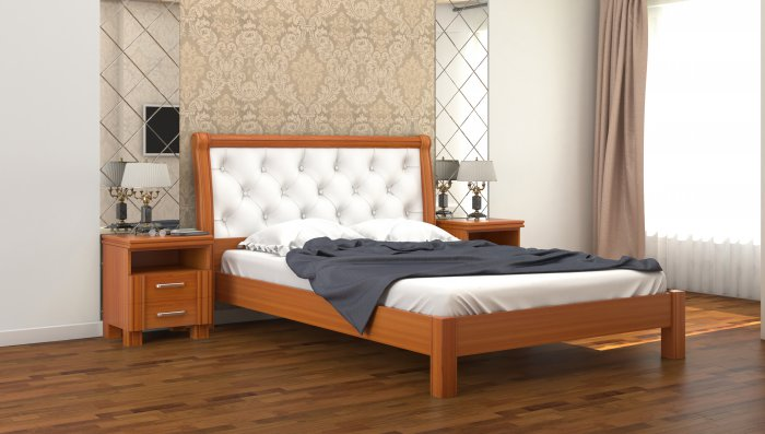 Двуспальная кровать Милена ДСПЛ - 180x200см