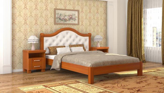 Двуспальная кровать Екатерина ДСПЛ - 160x190-200см