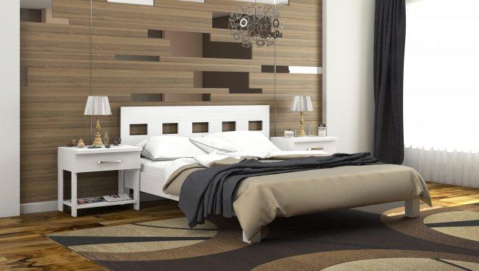 Полуторная кровать Диана дуб c механизмом - 120x190-200см