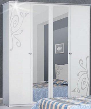 Шкаф 4Д (зеркало) Фелиция Новая