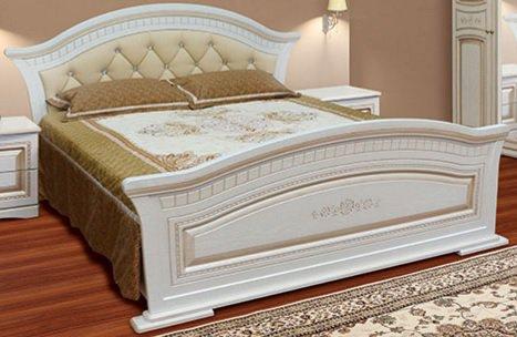 Кровать 2-х спальная с мягким быльцем Николь