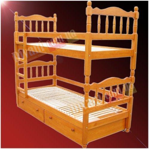 Двухъярусная кровать - длина 190x90x200см