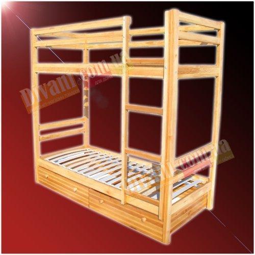 Двухъярусная кровать - длина 190x90см