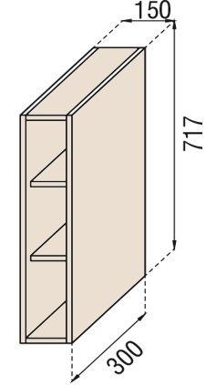 Модуль В 15П верх кухня Парма