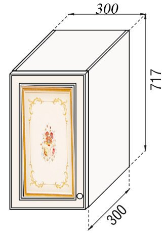 Модуль В 30 верх кухня Парма