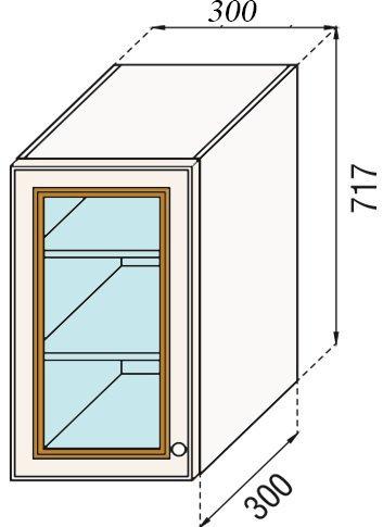 Модуль В 30Ск верх кухня Парма