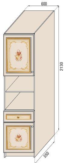Модуль П 60 пенал кухня Парма