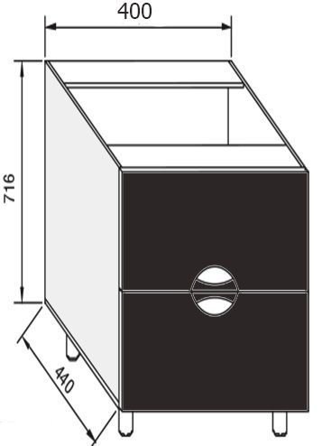 Модуль Н 40Ш низ кухня Адель Люкс