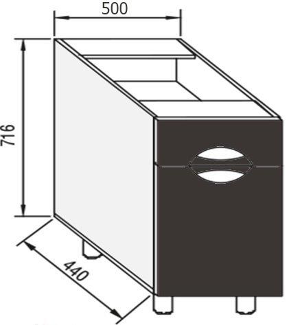 Модуль Н 50 низ кухня Адель Люкс