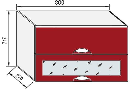 Модуль В 80БСк верх кухня Адель Люкс