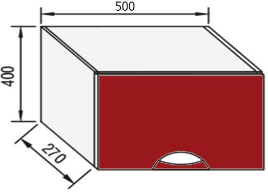 Модуль В 50 окап верх кухня Адель Люкс