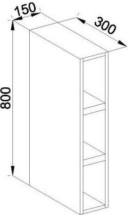 Модуль В 15 полки кухня Роксана
