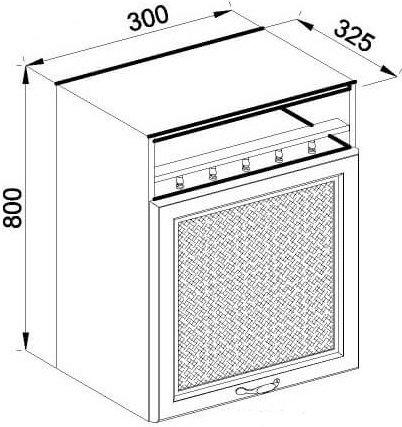 Модуль В 30 верх кухня Роксана