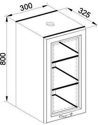 Модуль В 30Ск верх кухня Роксана