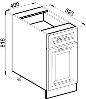 Модуль Н 40 низ кухня Роксана