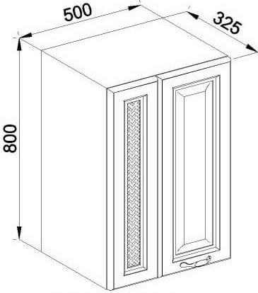 Модуль В 50 2Д верх кухня Роксана