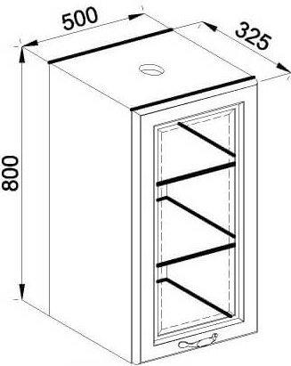 Модуль В 50Ск верх кухня Роксана