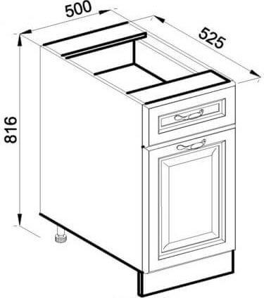 Модуль Н 50 низ кухня Роксана