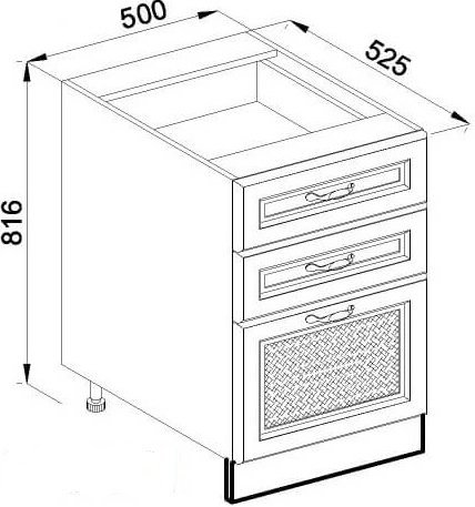 Модуль Н 50Ш низ кухня Роксана