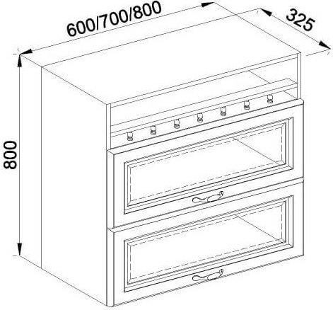 Модуль В 60БСк верх кухня Роксана