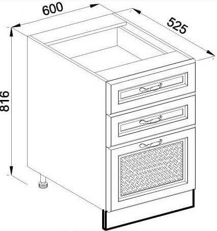Модуль Н 60Ш низ кухня Роксана