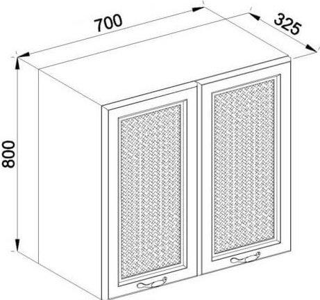 Модуль В 70 2Д верх кухня Роксана