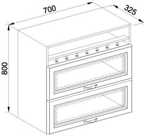 Модуль В 70БСк верх кухня Роксана