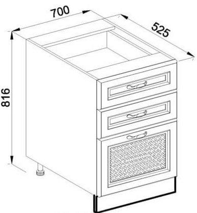 Модуль Н 70Ш низ кухня Роксана