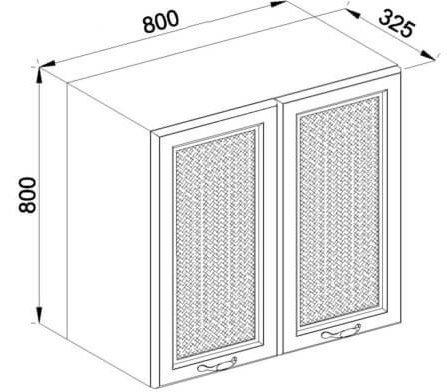 Модуль В 80 2Д верх кухня Роксана