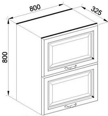 Модуль В 80Б верх кухня Роксана