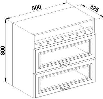 Модуль В 80БСк верх кухня Роксана